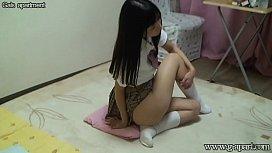 Japanese Schoolgirl Upskirt and Downblouse