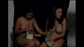 Topless Girls Vomit Puke...