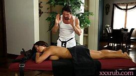 Massive boobs officer massage...