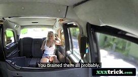 Blonde Bimbo Enjoys Cock...
