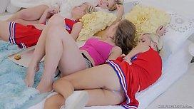 Lesbian cheerleaders make special...