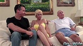 Blonde MILF wife big...