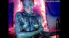 Sexy Painted Girl Masturbate - BillyCams.com