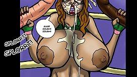 Big tit Superheroine takes two huge cocks (Comic) dolce modz