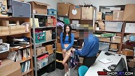 Shoplifting teen whore caught...