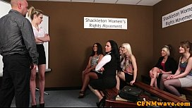 CFNM femdoms humiliating prick...