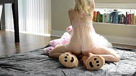 Teen fucks teddy bear...
