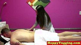 Real asian masseuse jerking...