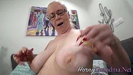 Buxom grandma creampied