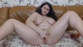 Horny BBW girlfriend pleasuring...