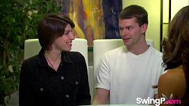 Young couple enjoying their...