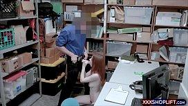 Irish redhead shoplifter teen...