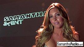 Samantha Saint masturbates for...