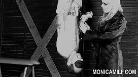 Monicamilf is strapon pegging...
