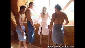 Larah With 3 Guys