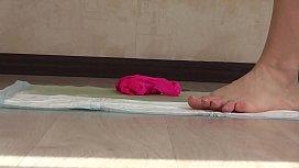 Golden shower in panties...