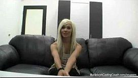 Hot ass blonde casting...