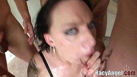 Racy Deepthroat Face Fucking of Juelz Ventura by Mr. Pete, Jonni Darkko