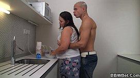 Fat girlfriend slammed on...