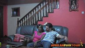 African teen seduced doggy...