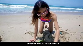 ExxxtraSmall - Beach Babe Boned...