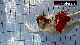Sexy hot girl swimming...