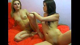 Webcam Russian teen Lesbians...