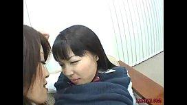 Asian Schoolgirls Kissing Tit...