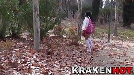 Schoolgirl ath the park...