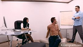 Sexy secretary fucks her...