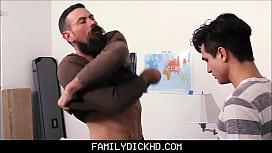 Stepdad Shows Virgin Stepson...