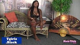 Busty black trans babe...