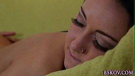 Sabrina Banks gets licked...