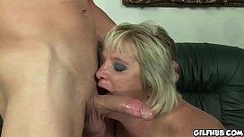 Old granny gets her...