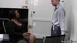 Large-breasted ebony fatty...