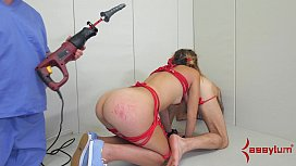 Teen Ass Slave Drilled...