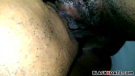 Black babe gets oral...