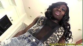 Black trans babe tugging...