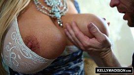 KELLY MADISON - Blue Lingerie Seduces Her Man