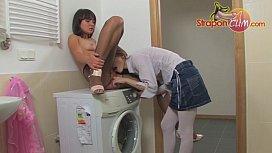 StraponCum: Laundry Room Romp...