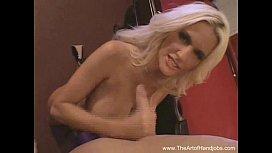 Perky Blonde Handjob...