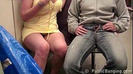 Public subway train sex...