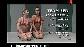 4 girls wrestling naked...