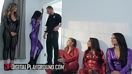 (Honey Gold, Karmen Karma, Kissa Sins, Lela Star, Nicolette Shea, Quinn Wilde, Xander Corvus) - Greedy Bitches Scene 4 - Digital Playground