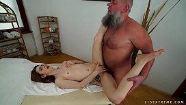 Older man fucks her...