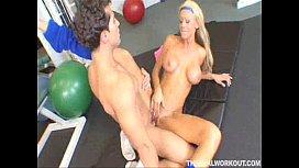 Busty Tanya James gets...