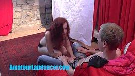 Wonderful 18yo redhead lapdances...