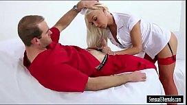 Luscious tattooed nurse shemale...