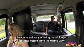 Female Fake Taxi Shocked...