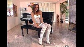 Cassia Riley stocking masturbation...